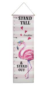 Embroidered Growth Chart Flamingo Growth Chart