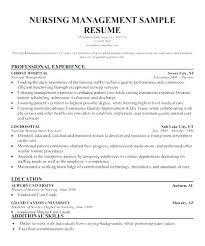 Sample Nurse Manager Resumes Nurse Manager Resume Examples Nursing Manager Resume Example