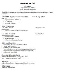 Physical Therapy Resume Beauteous 60 Sample Physical Therapist Resumes Sample Templates