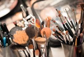 messy makeup brush set photo