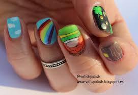 VOLISH POLISH: St. Patrick's day nail art - handpainted / Nail art ...