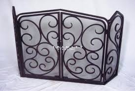 best of iron fireplace screen or fire place screen 4 11 antique wrought iron fireplace screen
