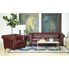 living room set. Abbyson Tuscan Top Grain Leather Chesterfield 2 Piece Living Room Set - Free Shipping Today Overstock 15559670 V