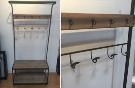 Industrial Coat Rack Bench Coat Rack Industrial Shelf Vintage Coat Rack 76