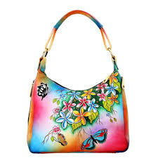 niarvi luxury hand painted leather handbag