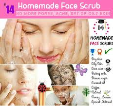 homemade face scrub for dry oily skin and