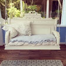 Shabby Chic Headboard Porch Swing From Old Headboard And You Thought That Was Just