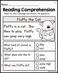 Kindergarten Reading Comprehension Worksheets : Kelpies