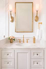 brass medicine cabinet. Modren Medicine White And Gold Master Bathroom With Brass Medicine Cabinet And E