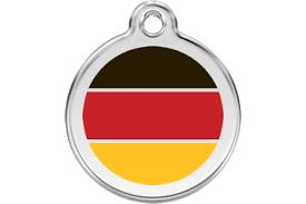 Red Dingo <b>German Flag Dog</b> Tag