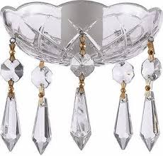 asfour crystal 30 lead crystal bobeche lamp chandelier parts with gold bowtie