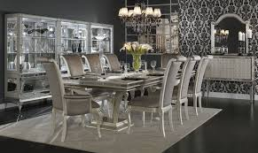 Hollywood Swank Double Pedestal Dining Room Set Aico Furniture - Aico dining room set