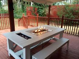 deck patio with fire pit. View In Gallery Outdoor-table-fire-pit-etsy.jpg Deck Patio With Fire Pit U
