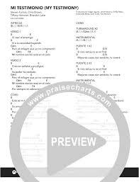 Lea el pdf de yo te amo en su navegador de forma gratuita. Mi Testimonio My Testimony Chords Pdf Elevation Worship Praisecharts