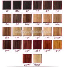 Remy Colour Chart Indian Remy Hair Full Lace Wigs Natural Straight Mixed Brown