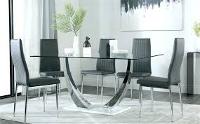 glass and chrome dining table glass table and grey chairs gallery glass and chrome dining table glass and chrome dining table dining room furniture