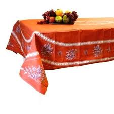 french tablecloth terracotta x coated cotton tablecloths round made in