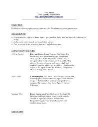 Modern Dance Resume Dance Resume Template Us Dancer Resumes W Performance Cv