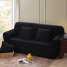 black couch slipcovers. Exellent Black Solid Color Corner Sofa Covers For Living Room Multisize Black Couch  Slipcovers Universal To P