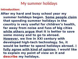 essays on summer holidays a simple summer essays