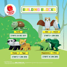 mcdonald s happy meal free toy building blocks until 24 january 2018