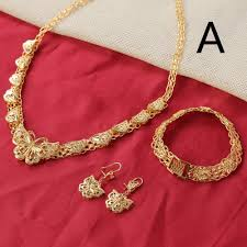 Arabic Gold Jewellery Designs Us 14 15 5 Off Ethiopian Necklace Earrings Bracelet Gold Color Filled Wedding Bridal African Arab India Brazil Israel Nigeria In Jewelry Sets From