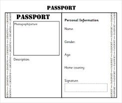 Free Passport Template For Kids Passport Template Passport Template Sample Passport Templates Free 3