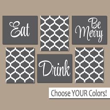 on food and drink canvas wall art with eat drink be merry wall art canvas or prints charcoal gray