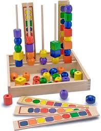 Wooden Bead Game Stunning Colorful Wooden Bead Stacking Sequencing Game