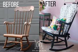 before and after upholstered rocking chair cushion how to make a cushion for rocking chair
