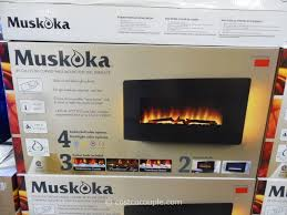 muskoka curved wall mount electric fireplace costco 4