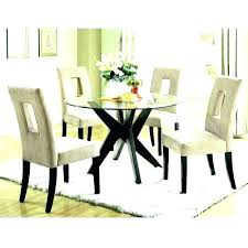 small round glass top dining table