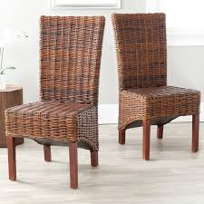 safavieh ridge wicker dining side chairs set of 2 wicker rattan dining room furniture