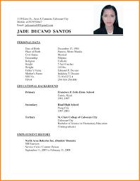 Simple Filipino Resume Format Gentileforda Com