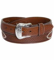 nocona mens basket weave diamond concho belt natural 114814 jpg