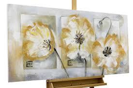 Handgemaltes Acryl Gemälde Mit Blumen Kaufen Von Einfach
