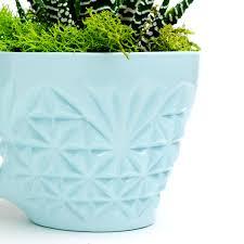 Light Blue Planter Carl Rose Light Blue Singleton Crystal Punch Cup Planter