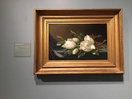 Magnolias On Light Blue Velvet Cloth Highlights From The Art Institute Of Chicago