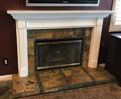 wood fireplace mantel jackson shown in white on poplar view detailed image