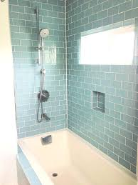 glass tile shower floor glass subway tile bathroom bathroom contemporary with glass shower wall sea glass
