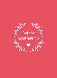 Carte De St Valentin Carte Couronne Joyeuse St Valentin