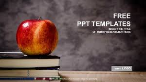 Ppt Templates Education Apple And Book Education Ppt Templates
