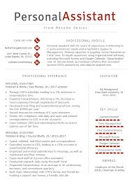 88 Personal Resume Template Personal Assistant Resume Sample