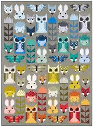 Best 25+ Animal quilts ideas on Pinterest | Elizabeth hartman ... & FANCY FOREST pdf quilt pattern Adamdwight.com
