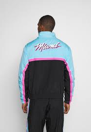 Miami heat city edition courtside. Nike Performance Nba Miami Heat City Edition Tracksuit Black Blue Gale Laser Fuchsia Black Zalando Co Uk