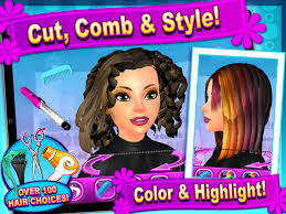 sunnyville salon game play free hair nail make up games screenshot 3