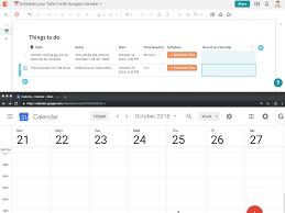 Calendar Doc Schedule Your To Dos With Google Calendar Coda Template