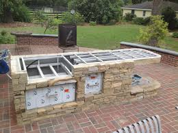 simple outdoor kitchen ideas on a budget fresh homemade superb built in bbq of photo