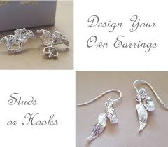 earrings design your own sterling silver or 9ct gold