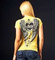 Affliction Womens Size Chart Affliction Los Angeles Store Metal Heart Baby Tee